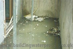 flooded basement Waterproofing Basements