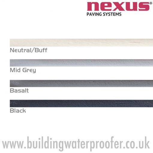 Nexus ProJoint Porcelain Grout colours