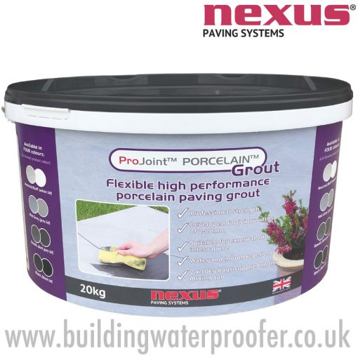 Nexus ProJoint porcelain paving grout 20kg