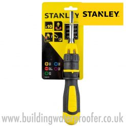 STANLEY Multibit Ratchet Screwdriver + 10 Bits