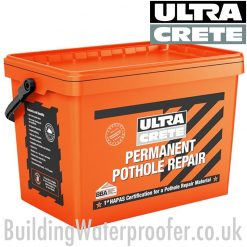 Ultracrete Permanent Pothole Repair 3mm Tub 25kg