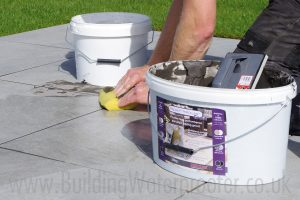 how to use porcelain grout on paving